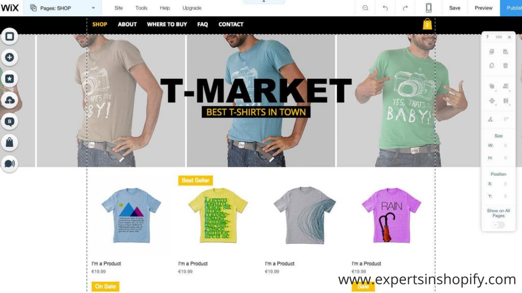 Wix Web Commerce