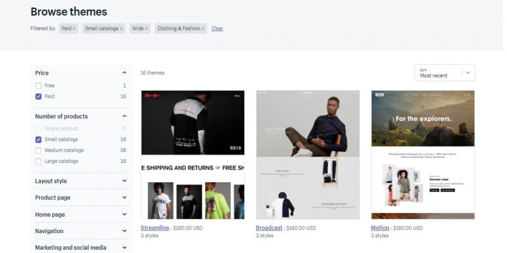 theme for shopify store